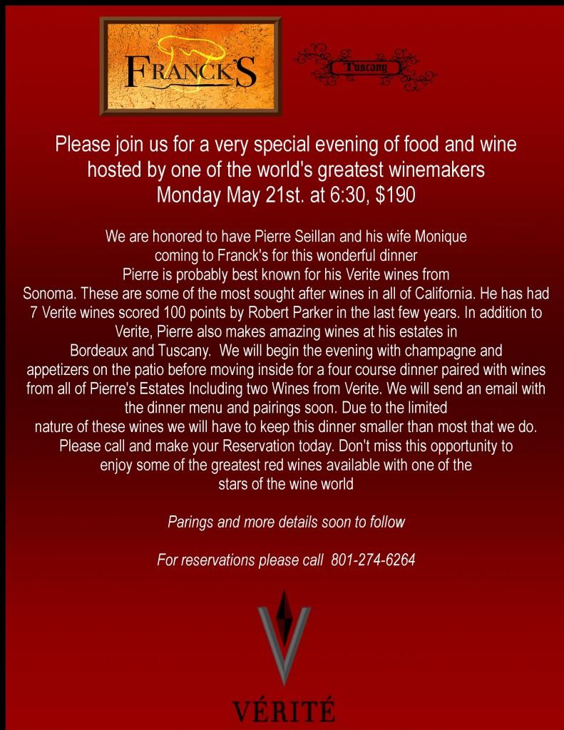Verite Wine Dinner 5-2012